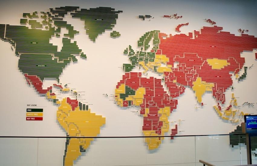 Libertad de prensa en el mundo / Por Jareed en Flickr / Usada bajo licencia Creative Commons