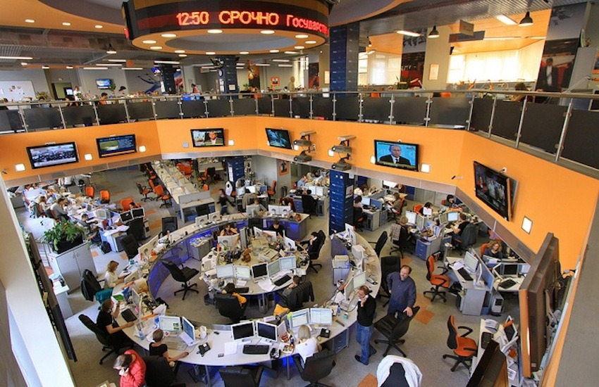 Sala de redacción de RIA Novosti / Foto: Jürg Vollmer en Flickr / Usada bajo licencia Creative Commons