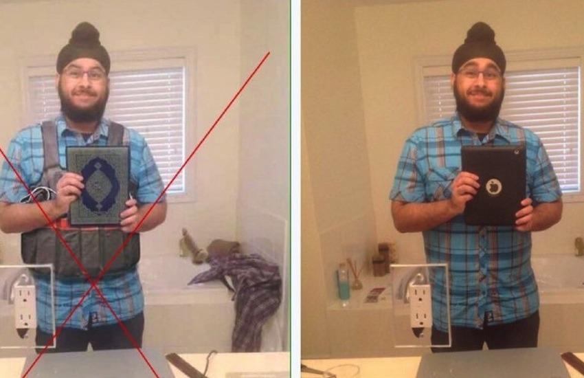 La falsa foto de Veeren Jubbal que fue equivocadamente usada para asociarlo con los terroristas / Clases de Periodismo