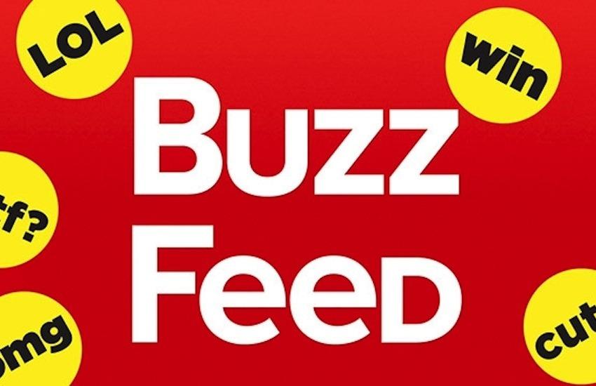 El logo de BuzzFeed junto a las tradicionales etiquetas con que califican sus publicaciones / adweek.com