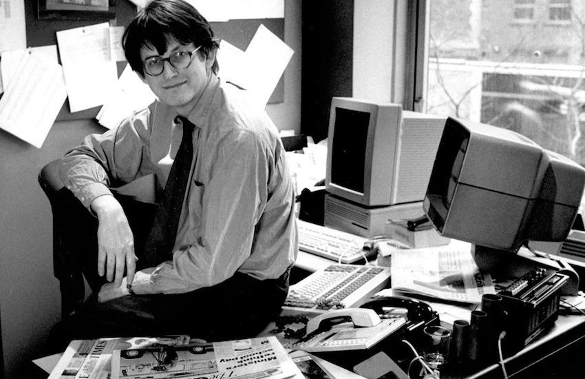Alan Rusbridger en 1995. Fotografía: The Guardian