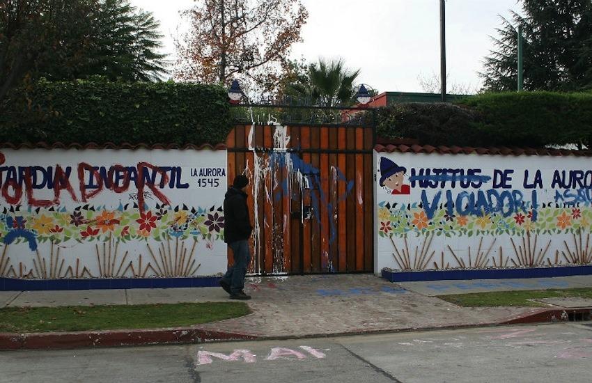 Fachada del hoy desaparecido jardín infantil | La Tercera