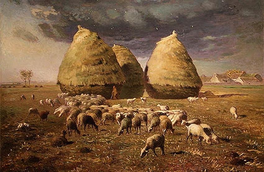 Jean–François Millet. Pilas de heno, otoño. ca. 1874. (Imagen en dominio público)