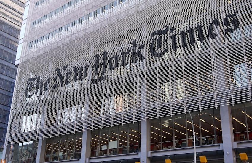 El edificio de The New York Times / Fotografía: samchils en Flickr / Usada bajo licencia Creative Commons