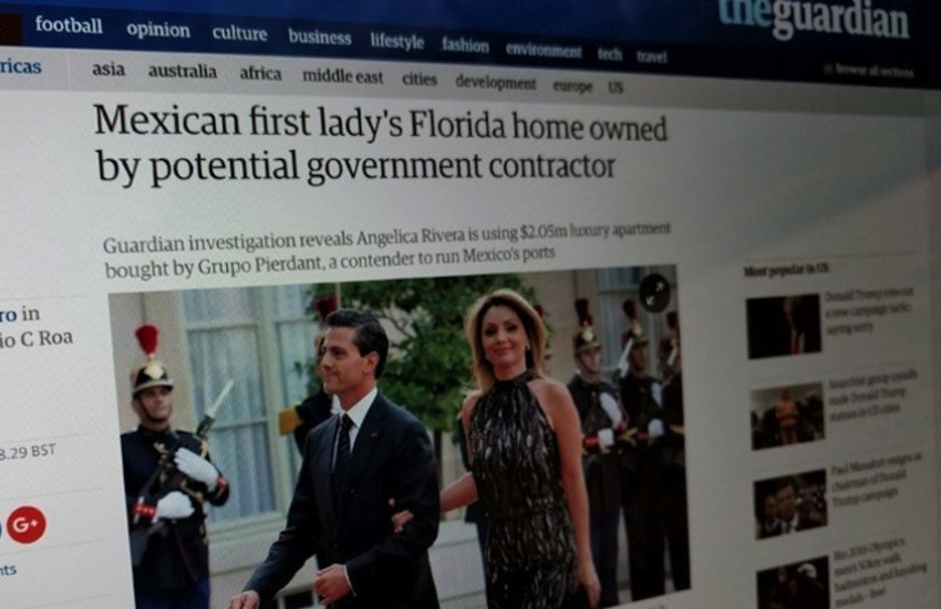Una de las noticias publicadas por The Guardian / Fotografía: Article 19