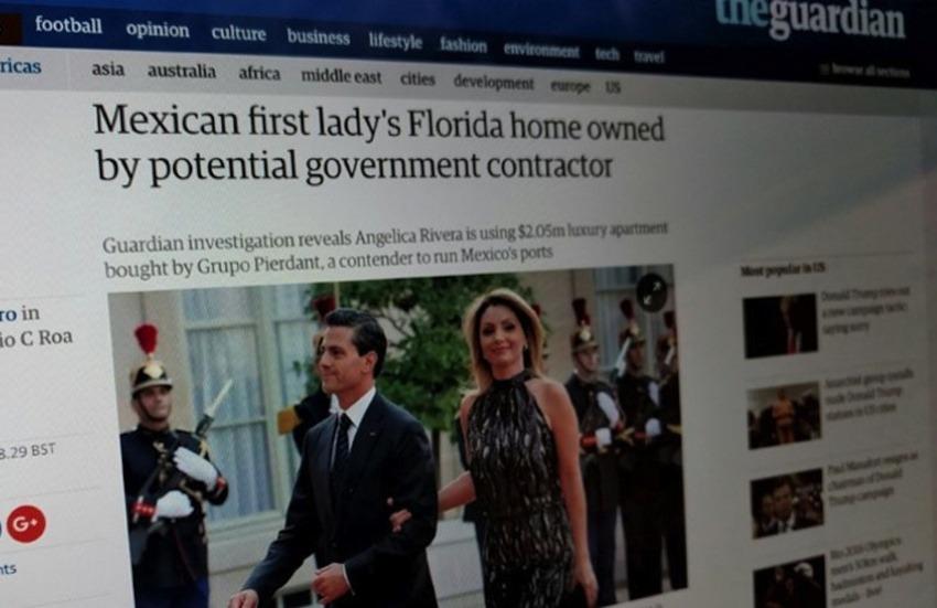 Una de las noticias publicadas por The Guardian / Fotografía: Article 19