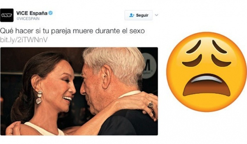 La imagen que ilustra este post fue elaborada por Perú21. Incluye la foto del tuit y un emoji.