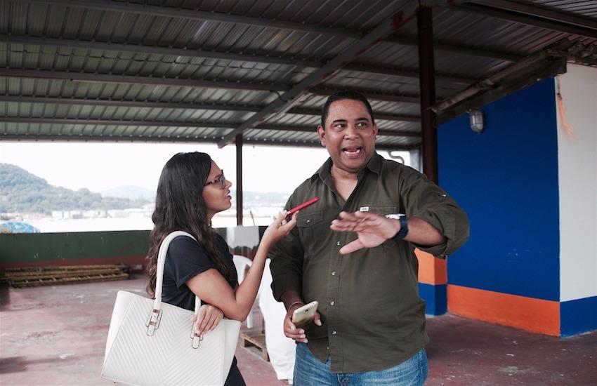Los participantes del taller 'Contar la ciudad' hicieron reportería en las calles de Ciudad de Panamá. Foto: José Yau.