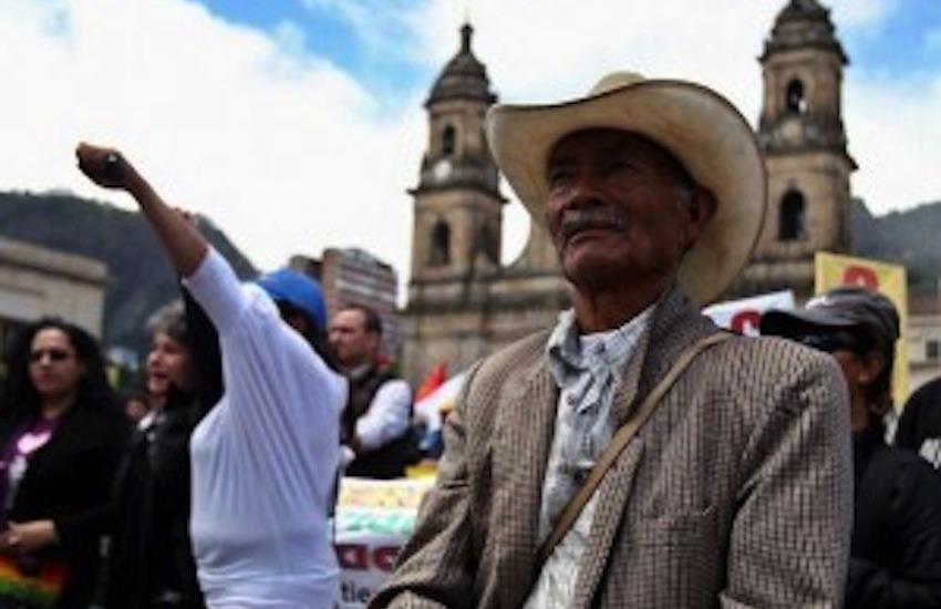 Manifestación campesina en Bogotá / Diario El Carabobeño en Flickr