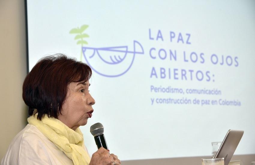 Ana Cristina Navarro, directora académica del proyecto 'La paz con los ojos abiertos'. Foto: Guillermo Legaria / FNPI.