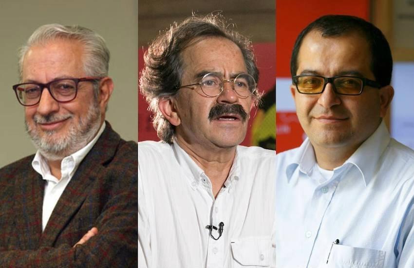 De izquierda a derecha: Mauricio Sáenz, Jorge Cardona y Fernando Alonso Ramírez.