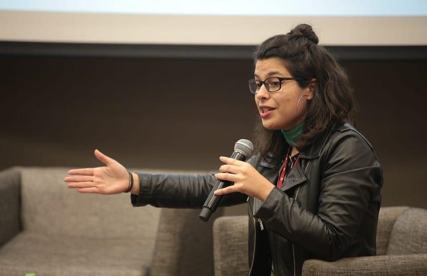 Naimid Cirelli, periodista de Cosecha Roja. Foto: Emmanuel Upegui / FNPI.
