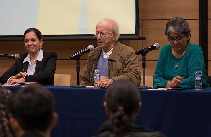 Diana Saray Giraldo, Javier Darío Restrepo y Yolanda Ruiz. Foto: Diana Sánchez/ FNPI