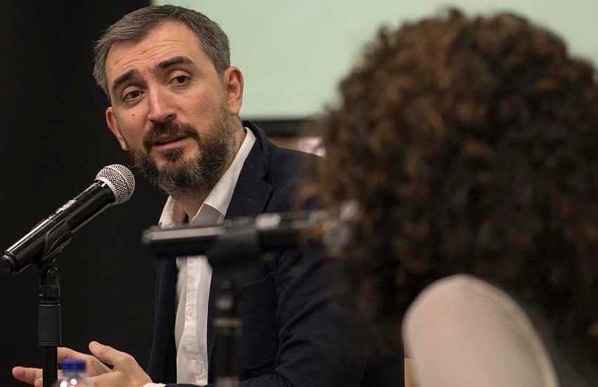 Ignacio Escolar y Mábel Lara. Foto: Diana Sánchez/ FNPI.