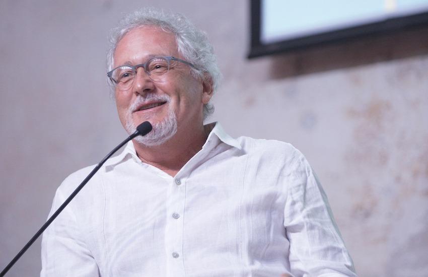 Héctor Abad Faciolince en el Hay Festival Cartagena 2018. Foto: Rafael Bossio / FNPI.