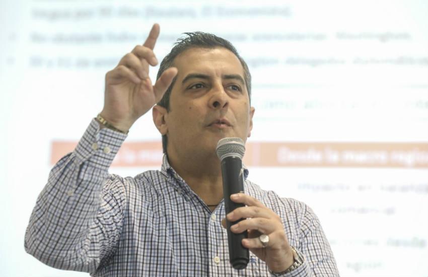 Eduardo Recoba, economista y periodista (Perú). Foto: Joaquín Sarmiento / FNPI.