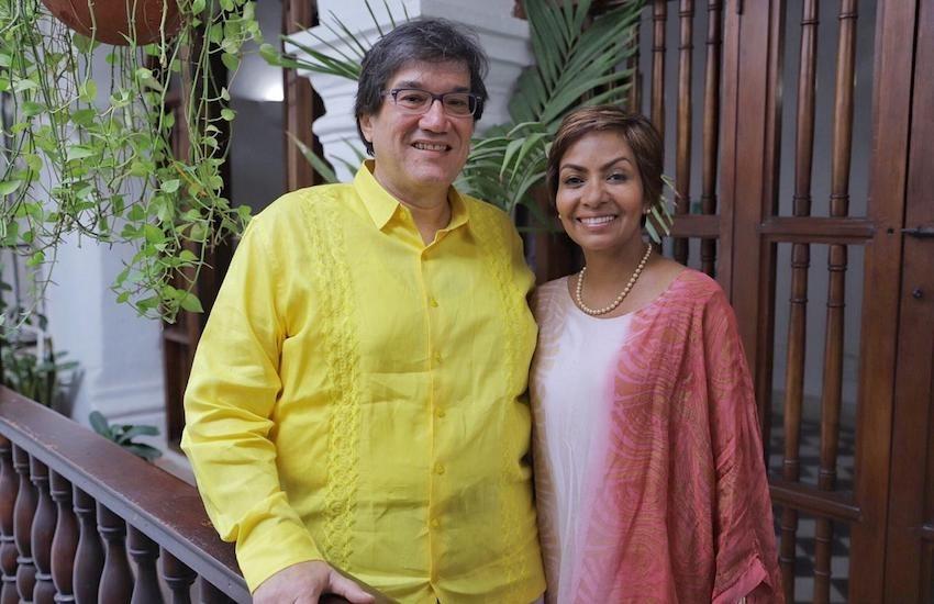 Jaime Abello, director general de la FNPI, y Zully Salazar, nueva gerente ejecutiva.