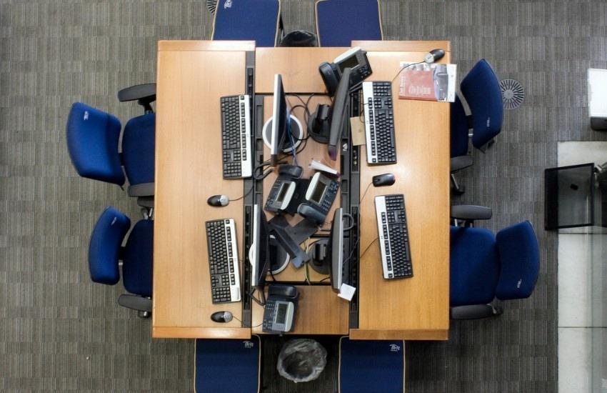 Salas de redacción cada vez más vacías, un escenario común en medios actualmente | Fotografía: Michael Duxbury en Flickr. Usada bajo licencia Creative Commons.