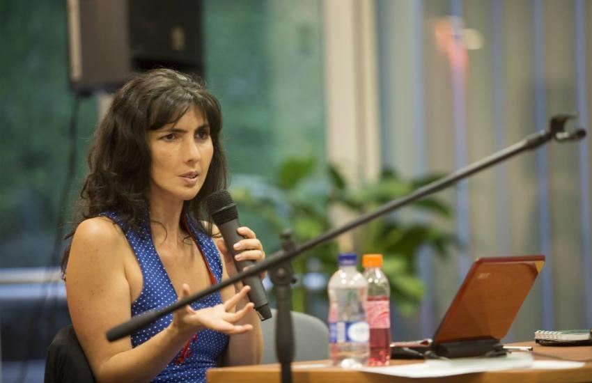 Josefina Licitra, editora de la revista Orsai, es jurado de la Beca Oxfam FNPI de periodismo sobre desigualdad de género 2019. Foto: David Estrada Larrañeta / FNPI.