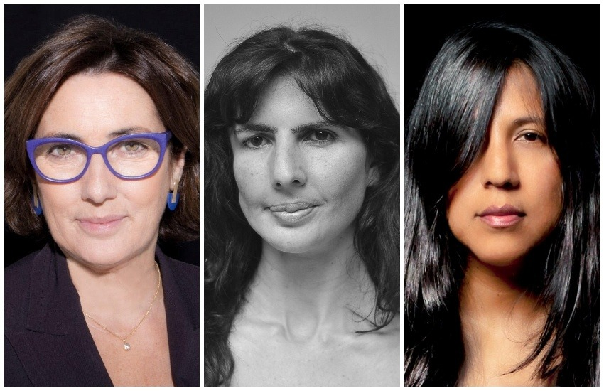 De izquierda a derecha: Montserrat Domínguez, Josefina Licitra y Gabriela Wiener. Fotos: Cortesía / Cortesía / Daniel Mordzinski.