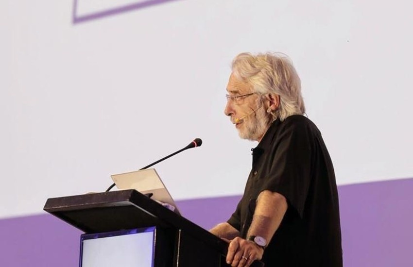 Richard Gingras, Vicepresidente de Noticias de Google, en Cartagena. Fotografía: @richardgingras en Twitter.