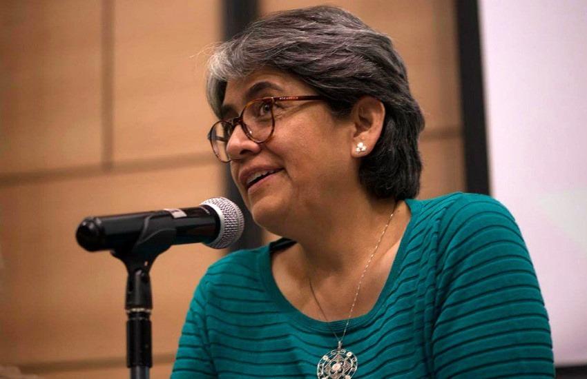 Yolanda Ruíz durante el Encuentro de Directores y Editores de Medios Colombianos 2018 convocado por la Fundación Gabo.