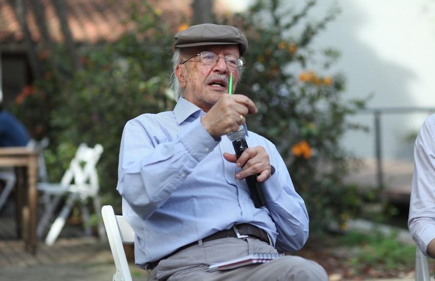 Javier Darío Restrepo (q.e.p.d.) dirigió el Consultorio Ético de la Fundación Gabo desde su creación en el 2000. Foto: Daniel Bustamante - Fundación Gabo.