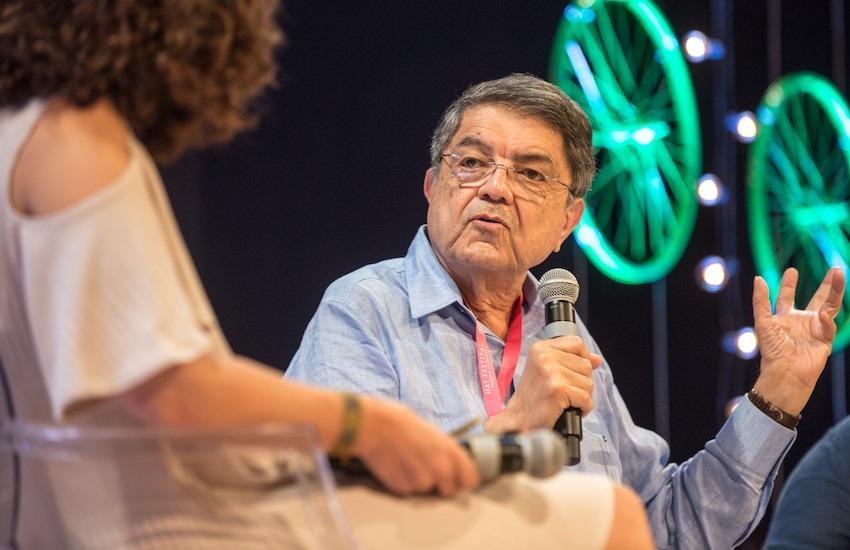 Sergio Ramírez en el Hay Festival Cartagena 2018. Foto. Rafael Bossio / Festival Gabo.