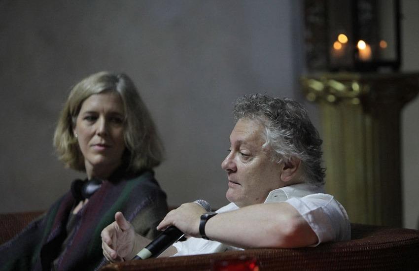 Anne Midgette y Diego Fischerman en la charla 'Conversaciones barrocas' durante el Festival Internacional de Música de Cartagena, 2013. Créditos: Joaquín Sarmiento