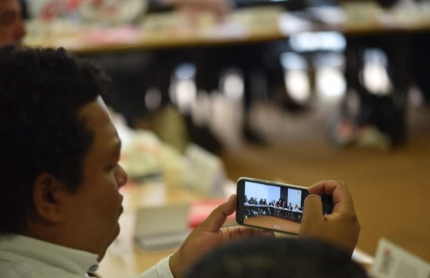 La jornada se realiza en el marco del XVII Encuentro de directores y editores de medios y organizaciones de periodismo de Colombia. Foto: Daniel Gómez / Fundación Gabo.