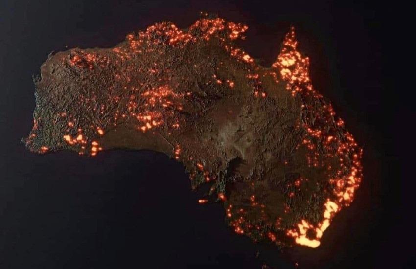¿Es real esta imagen satelital de los incendios en Australia?... ¡Responde nuestro quiz semanal de noticias!