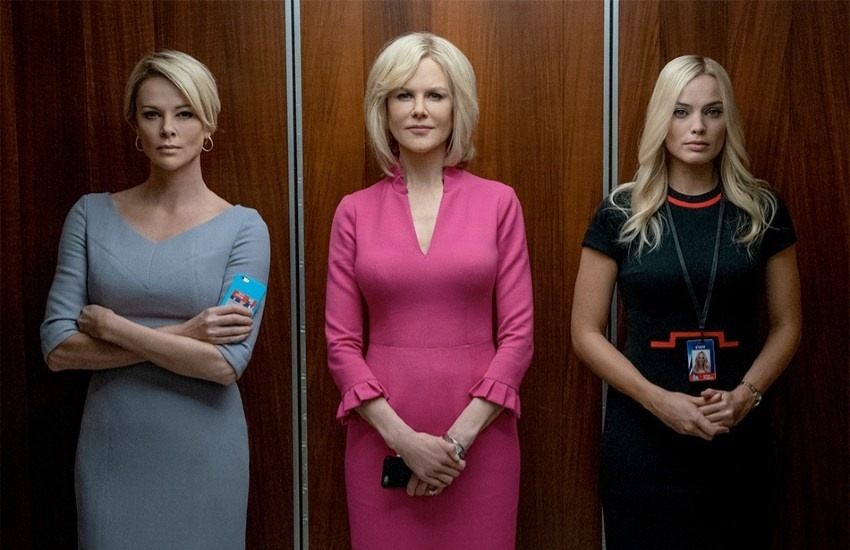 De izquierda a derecha: Charlize Theron, Nicole Kidman y Margot Robbie. Fotografía: Lionsgate Films.