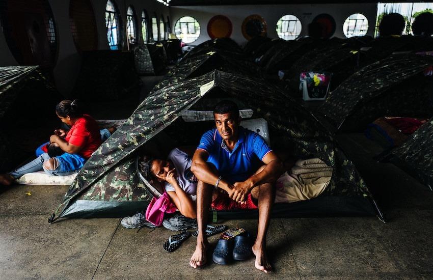 Migrantes venezolanos en un albergue en Brasi. Foto: Thiago Dezan / FARPA CIDH