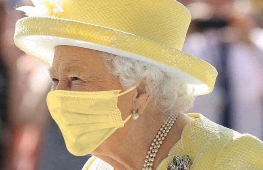 ¿Es real esta imagen de la Reina Isabel usando un cubrebocas que combina con su vestido?... ¡Responde nuestro quiz de noticias!