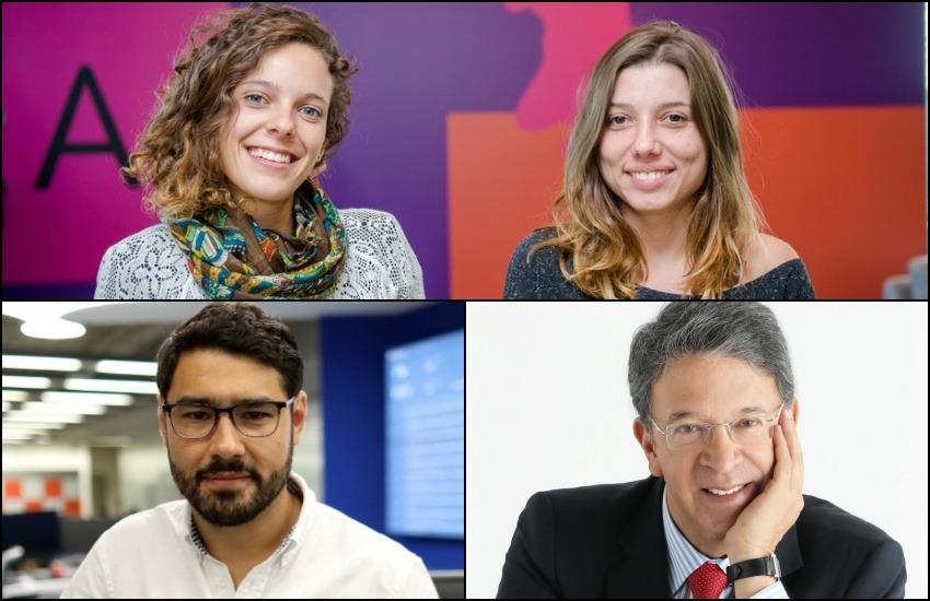 Arriba: Clarissa Levy y Manoela dos Santos Bonaldo. Abajo: Ronny Suárez y Carlos Francisco Fernández. Foto: Cortesía.