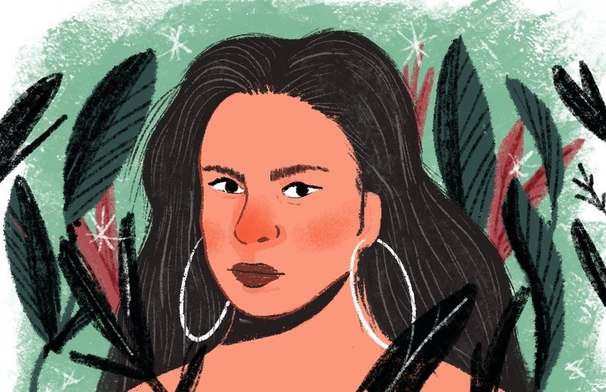 Juliana Giraldo tenía 38 años de edad cuando fue asesinada. Ilustración: Juliana Cuervo.