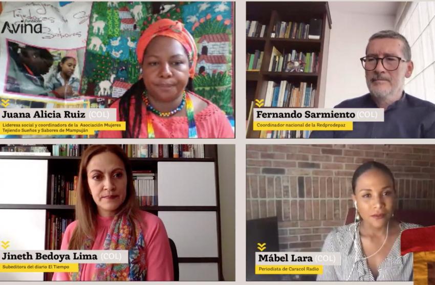 Captura de video de la charla web: 'Líderes sociales, prioridad en la agenda pública'.