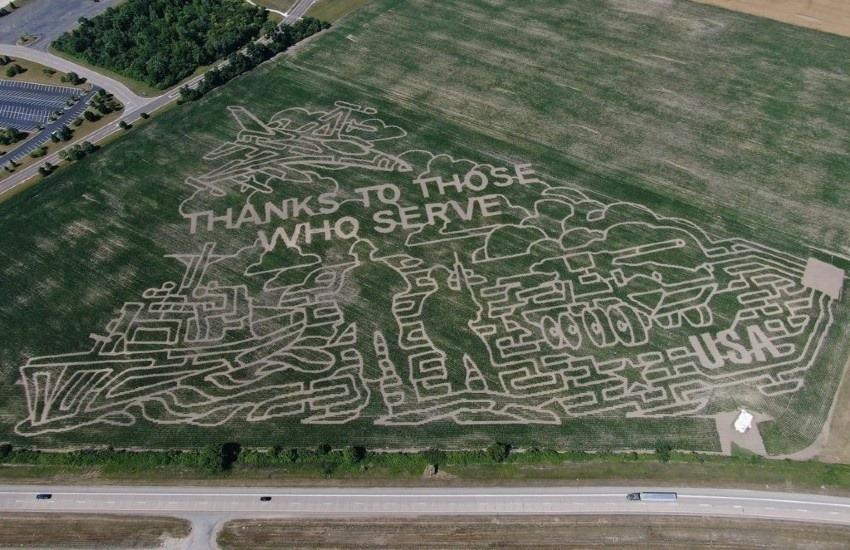 ¿Es real este enorme dibujo en un campo de maíz para honrar a los veteranos de guerra estadounidenses?... ¡Responde nuestro quiz de noticias!