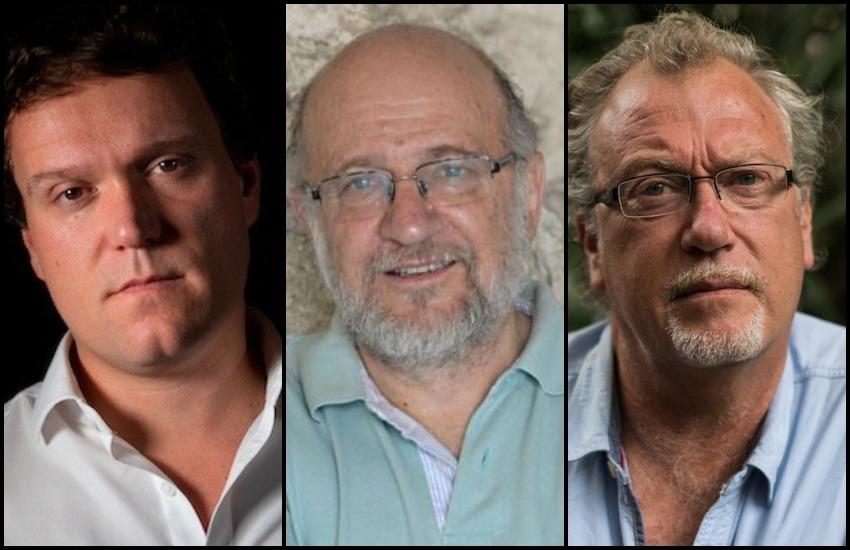 Jurado de la Beca Michael Jacobs 2021: J. S. Tennant, ganador de la edición 2020, y Daniel Samper Pizano y Jon Lee Anderson, maestros de la Fundación Gabo.