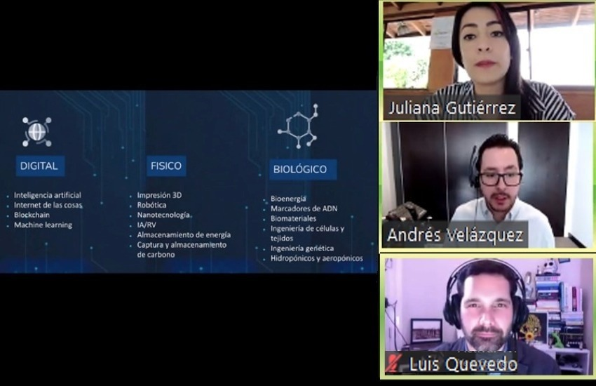 Captura del taller virtual, dirigido por Luis Quevedo.