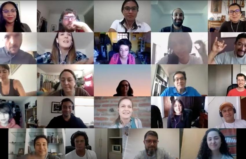 Captura de pantalla del encuentro virtual.