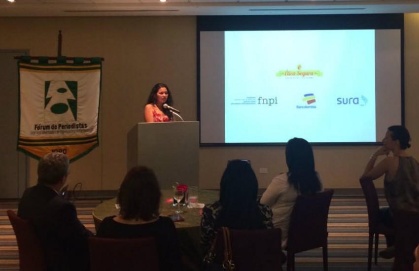 Natalia Algarín presenta el Premio Gabo en Panamá / Fotografía: FNPI
