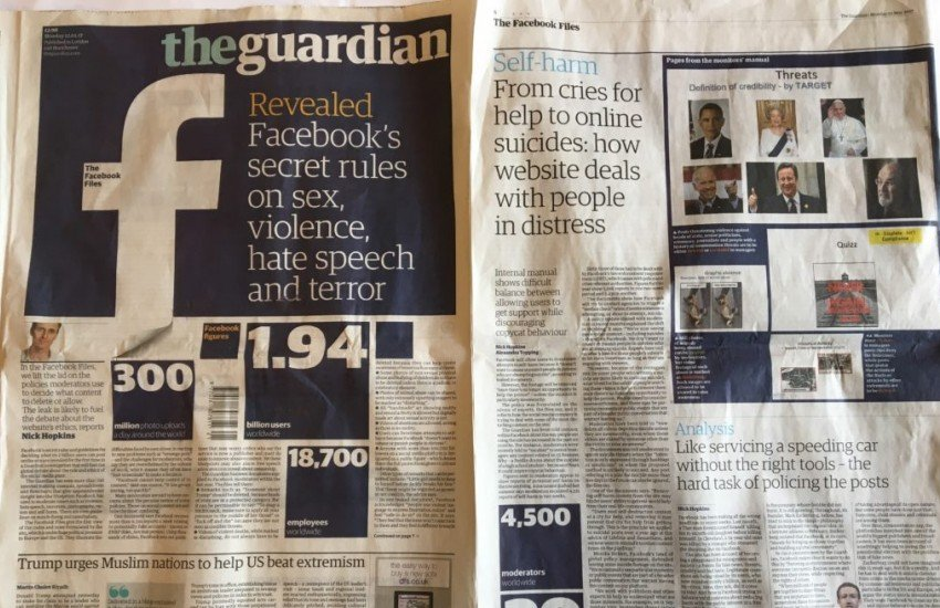 Portada de The Guardian con la exclusiva sobre Facebook | EJN