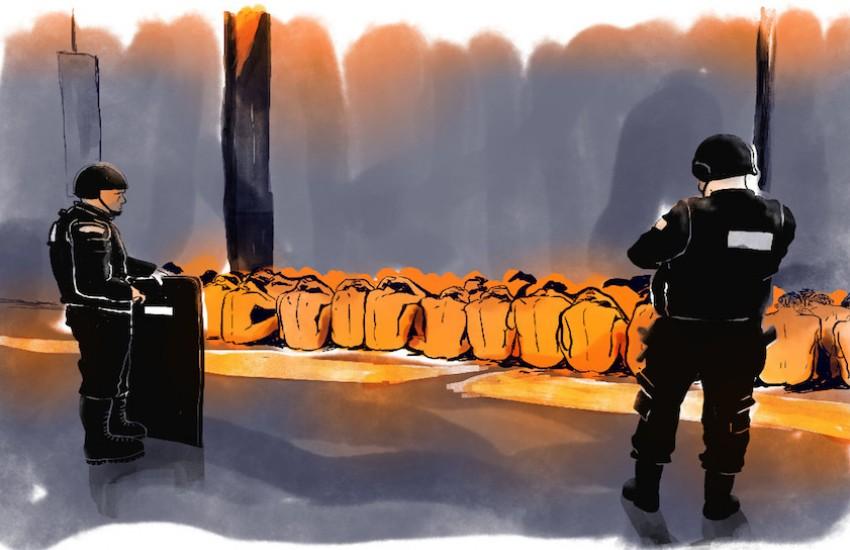 Ilustración de Talles Rodrigues, tomada del trabajo 'Los niños invisibles'.