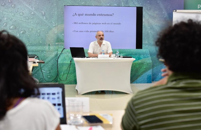 Taller de periodismo emprendedor en el Caribe colombiano. Foto: Carlos Torres