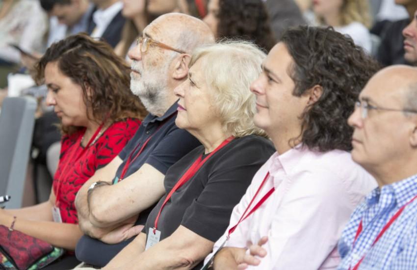 Jurados y finalistas del Premio Gabo 2017. De izquierda a derecha: Marcela Turati, Adelino Gomes, Mónica González y Martín Rodríguez Pellecer | Fotografía: David Estrada.