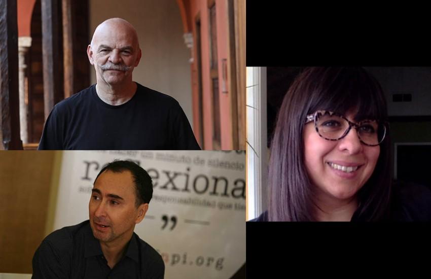 Martín Caparrós, Eileen Truax y Roberto Navia.