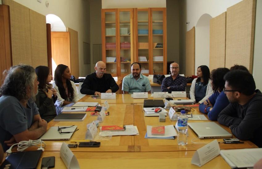 Nueve periodistas iberoamericanos se reúnen en el Taller de Libros Periodísticos durante 5 días. Foto: Jorge Luis Plata.
