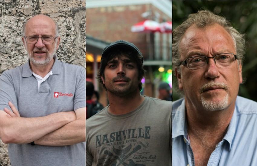 Daniel Samper Pizano (Colombia), Diego Cobo (España) y  Jon Lee Anderson (Estados Unidos), jurados de la Beca Michael Jacobs de crónica viajera 2018.