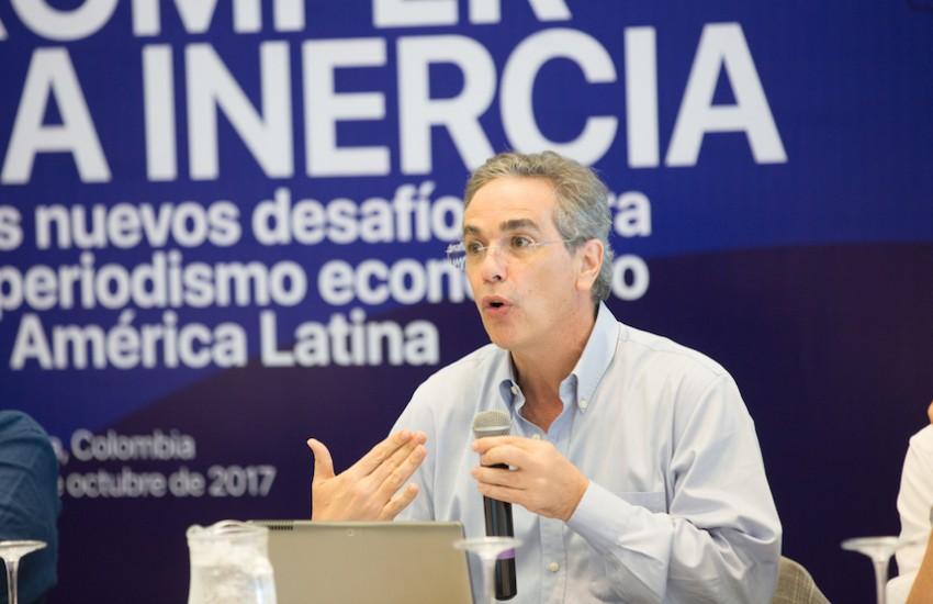 Luis Miguel González, director editorial de El Economista (México). Foto: Rafael Bossio / FNPI.